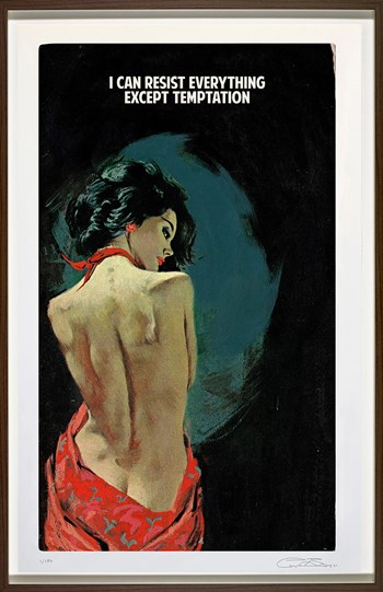 I Can Resist Everything Except Temptation by The Connor Brothers - Framed Giclee Limited Edition